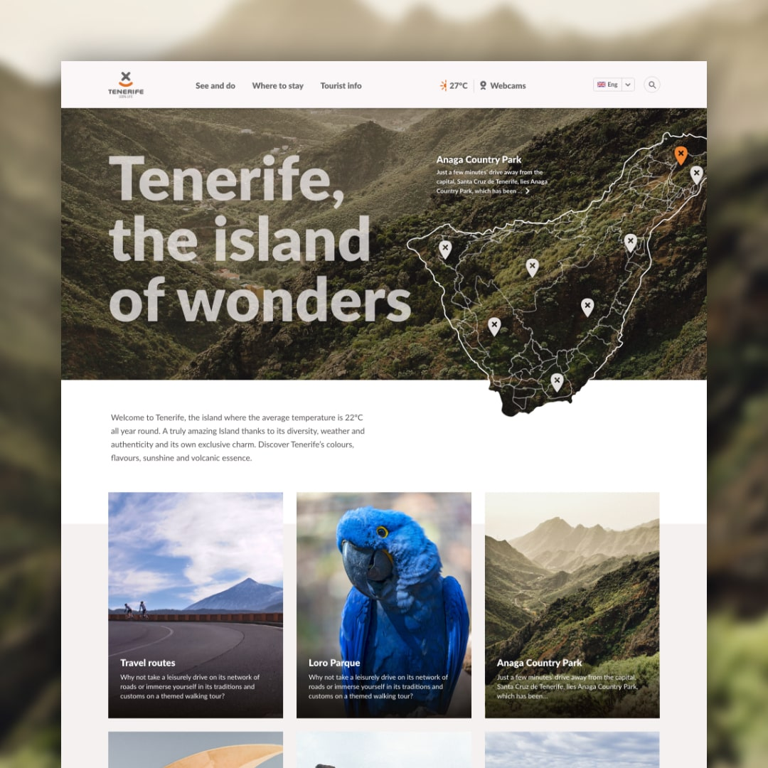 Tenerife website redesign