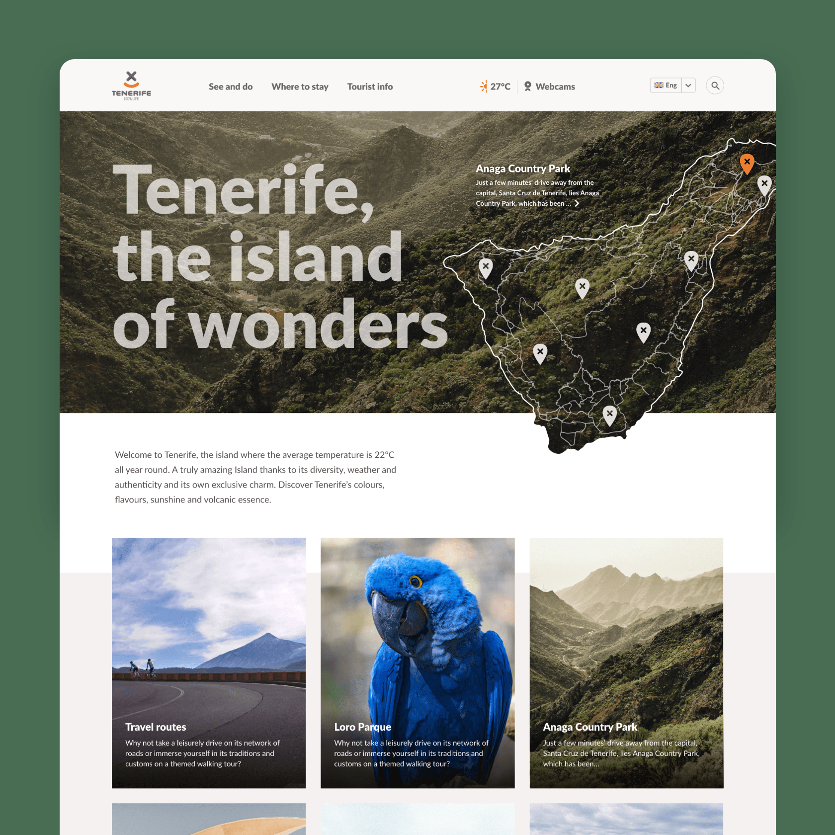 Tenerife tourism website